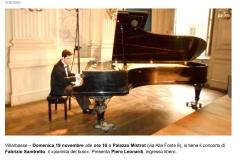 Fabrizio Sandretto, il pianista del buio